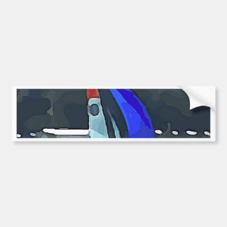 Blue Sailboat Bumper Sticker