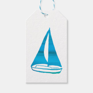 Blue Sailboat Gift Tags