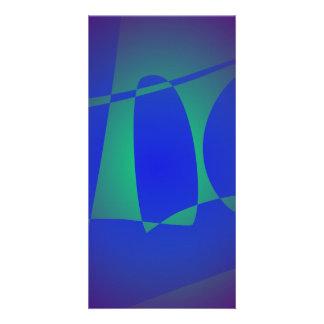 Blue Sailboat Custom Photo Card