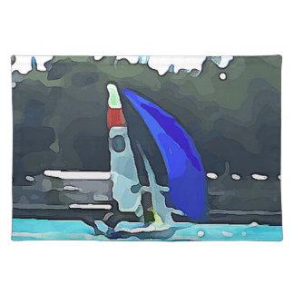 Blue Sailboat Placemat