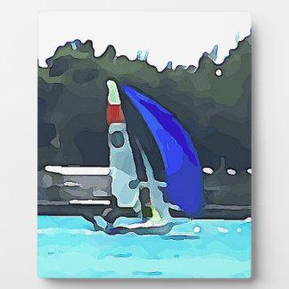Blue Sailboat Plaque