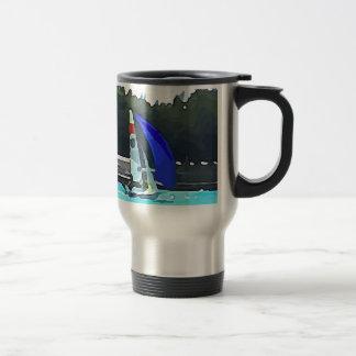 Blue Sailboat Travel Mug