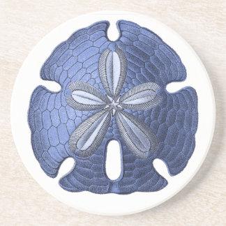 Blue Sand Dollar Stone Coaster