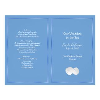 Blue Sand Dollars Beach Wedding Program 21.5 Cm X 28 Cm Flyer