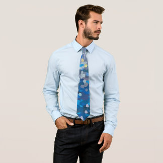 Blue Sand Ocean Lover Men's Tie by Margaret Juul