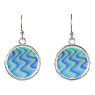 Blue Sand Wavy Fashion Earrings by Julie Everhart