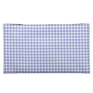 Blue-Sanskrit- Maṇḍala-Designer-Suede_Cosmetic-Bag Makeup Bag