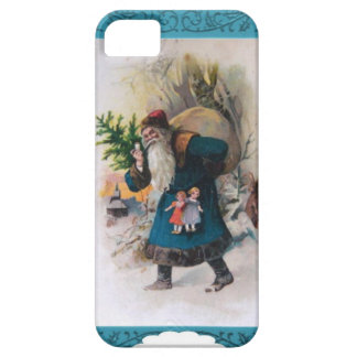 Blue Santa in the forest iPhone 5 Case