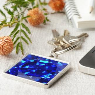 Blue Sapphire 3 Key Ring