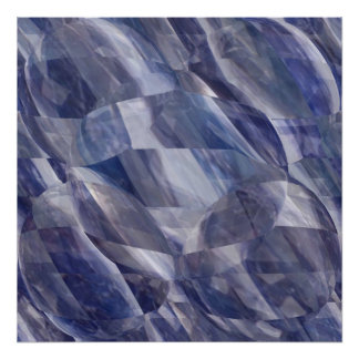 Blue Sapphire Crystals - Light and Shade work Poster