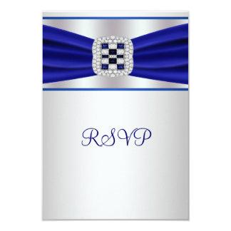 Blue Sapphire Diamond RSVP Card