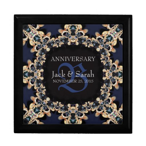 Blue Sapphire Gems Wedding Anniversary Gift Box