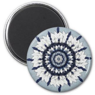 Blue Sash Mandala Abstract Magnet