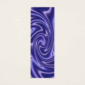 blue satin bookmark mini business card
