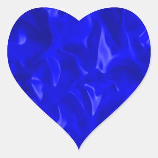 Blue Satin Heart Sticker