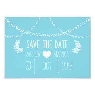 Blue Save The Dates Card