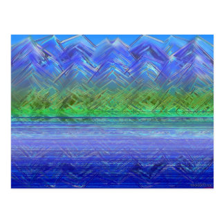 Blue Saw Mtn lake reflection Postcard