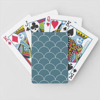 Blue scales bicycle playing cards