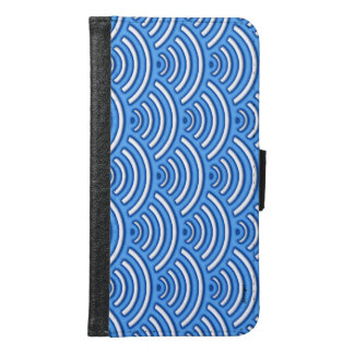 Blue scales pattern samsung galaxy s6 wallet case