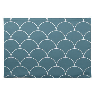 Blue scales place mats