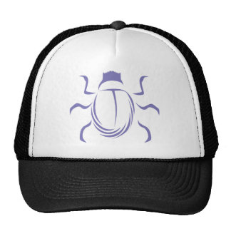 Blue Scarab Insect Bug Logo Mesh Hats