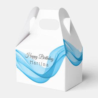 Blue Scarf Birthday or Wedding Favor Box