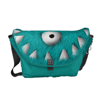 Blue Scary Furry Monster Commuter Bags