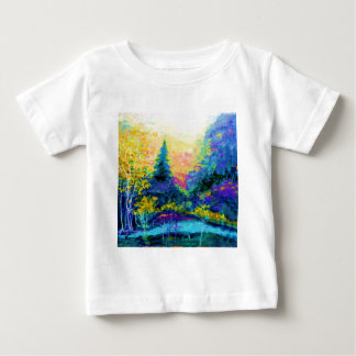 Blue Scenic Mountain Landscape Gifts Baby T-Shirt