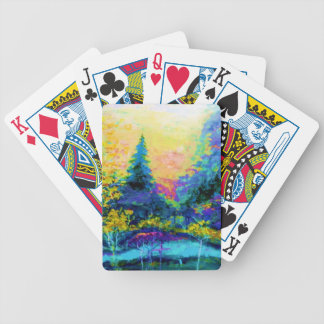 Blue Scenic Mountain Landscape Gifts Bicycle Playing Cards