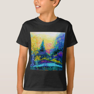 Blue Scenic Mountain Landscape Gifts T-Shirt