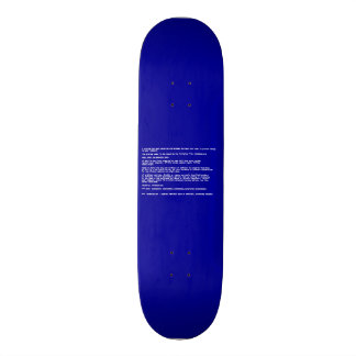 Blue Screen of Death 18.4 Cm Mini Skateboard Deck