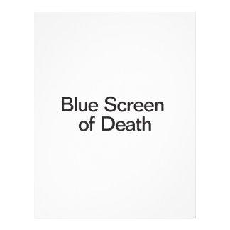 Blue Screen of Death ai Flyer Design