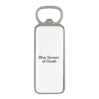 Blue Screen of Death ai Magnetic Bottle Opener