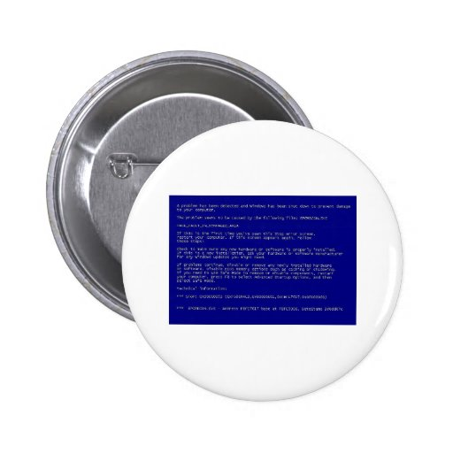 Blue Screen of Death Pinback Buttons