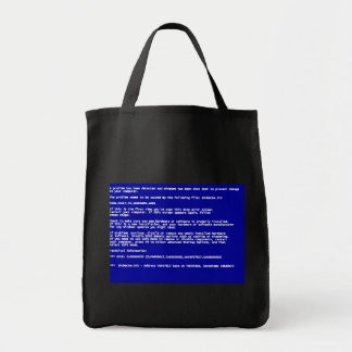 Blue Screen of Death Tote Bags