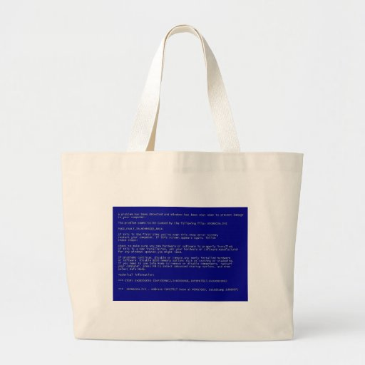 Blue Screen of Death Canvas Bags
