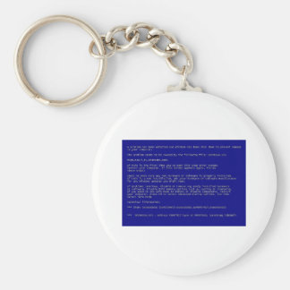 Blue Screen of Death Basic Round Button Key Ring