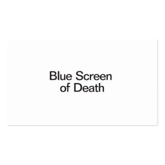 Blue Screen of Death Business Card Template