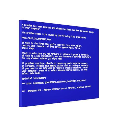 Blue Screen of Death Canvas Prints