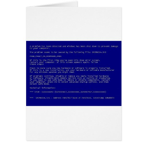 Blue Screen of Death Cards