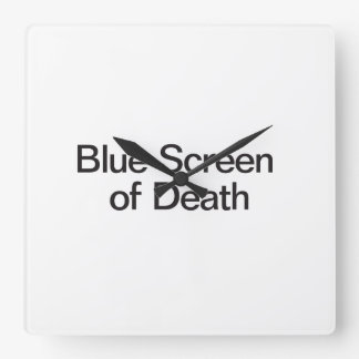 Blue Screen of Death Square Wallclock
