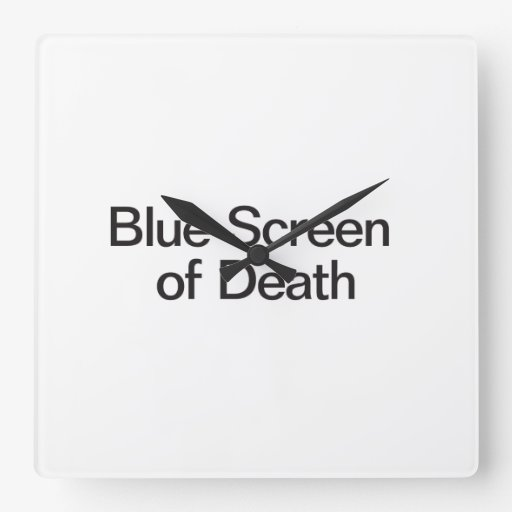 Blue Screen of Death Square Wallclock