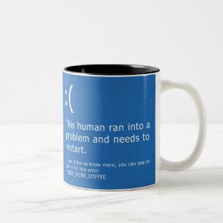 Blue Screen of Death - Coffee Error Two-Tone Coffee Mug