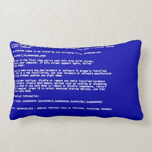 Blue Screen of Death Pillow