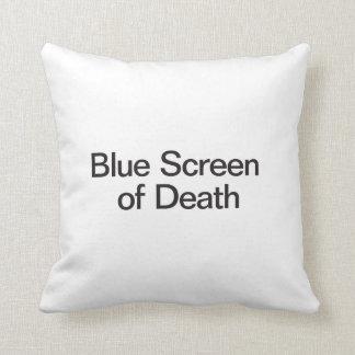 Blue Screen of Death Throw Pillows