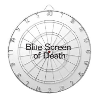 Blue Screen of Death Dartboard With Darts