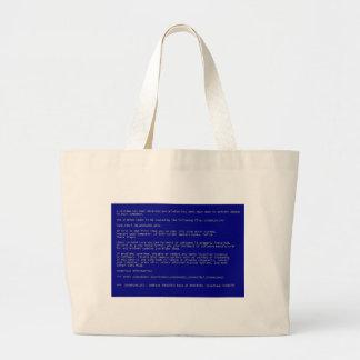 Blue Screen of Death Jumbo Tote Bag