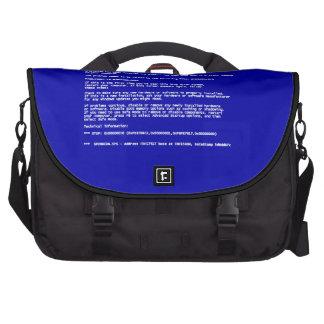 Blue Screen of Death Laptop Messenger Bag