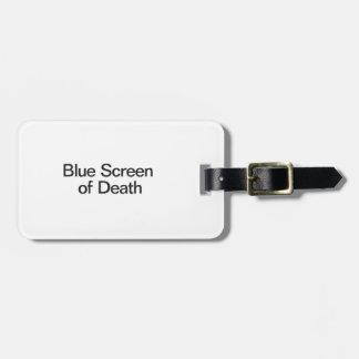 Blue Screen of Death Bag Tag