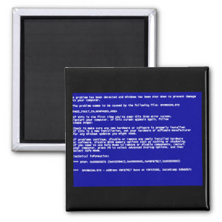 Blue Screen of Death Magnets